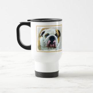 Bulldog Painting - Cute Original Dog Art Travel Mug