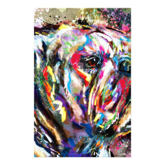 bulldog personalized stationery
