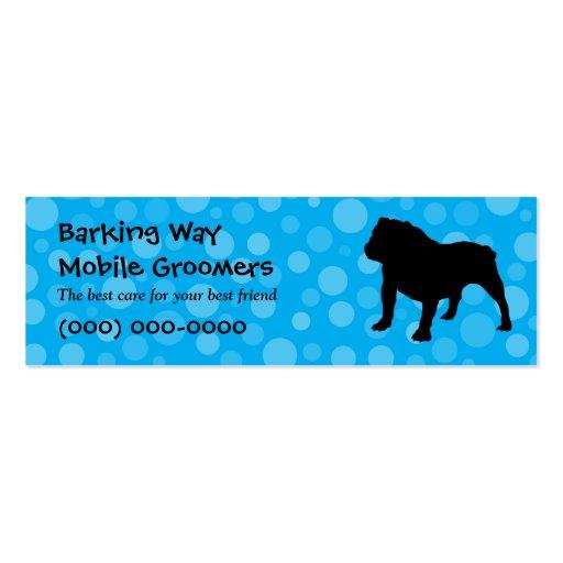Bulldog Pet Care Blue Business Card Templates