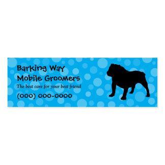 Bulldog Pet Care Blue Mini Business Card