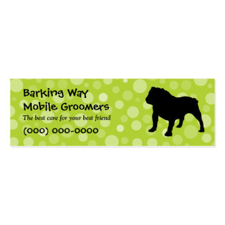 Bulldog Pet Care Lime Pack Of Skinny Business Cards