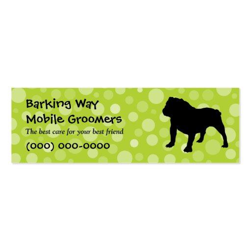 Bulldog Pet Care Lime Business Card Templates