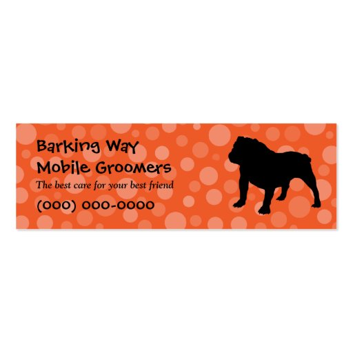 Bulldog Pet Care Orange Business Card