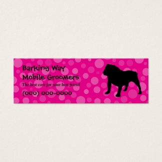 Bulldog Pet Care Pink Mini Business Card