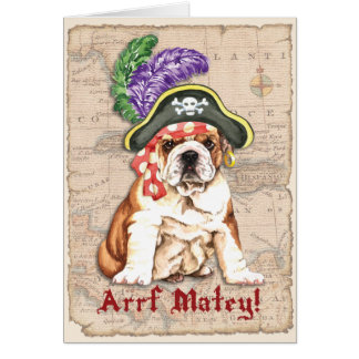 Bulldog Pirate Card