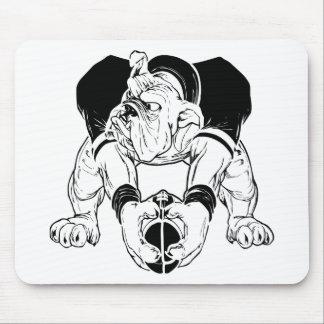 Bulldog Playing Football Mouse Pad