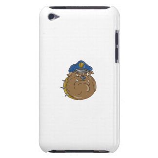Bulldog Policeman Head Cartoon Case-Mate iPod Touch Case