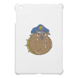 Bulldog Policeman Head Cartoon iPad Mini Cases
