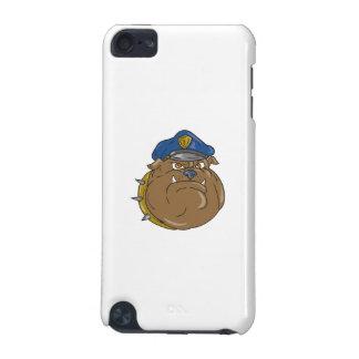 Bulldog Policeman Head Cartoon iPod Touch 5G Cases