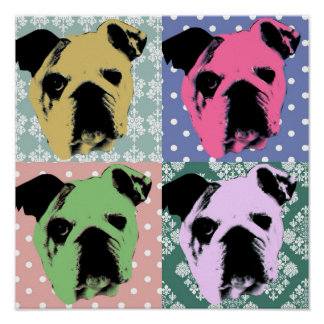 Bulldog Pop Art Print