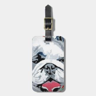 """""""Bulldog Pop"""" on a Luggage Tag. Luggage Tag"""