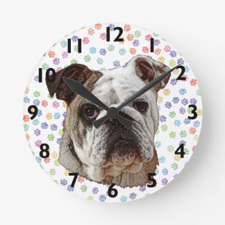 Bulldog Portrait Clock