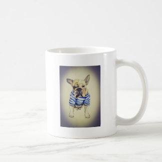 Bulldog Portrait in Purple Haze Coffee Mug