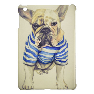 Bulldog Portrait in Purple Haze iPad Mini Cases