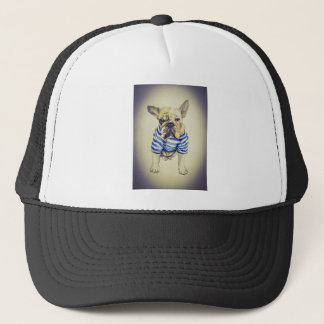 Bulldog Portrait in Purple Haze Trucker Hat
