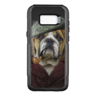 Bulldog portrait smoking a pipe OtterBox commuter samsung galaxy s8+ case