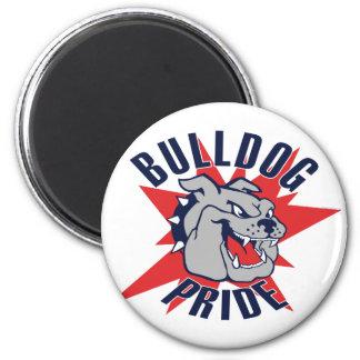 Bulldog Pride 2 Inch Round Magnet