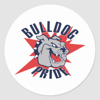 Bulldog Pride Round Sticker