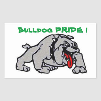 Bulldog Pride Rectangular Sticker