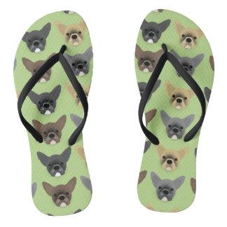 Bulldog Puppies Flip Flops