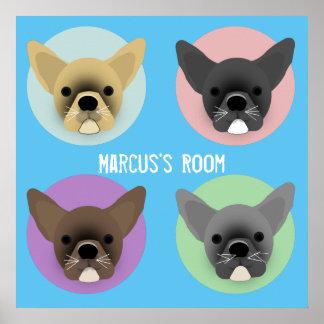 Bulldog Puppies Poster
