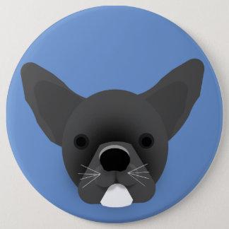 Bulldog Puppy 6 Inch Round Button
