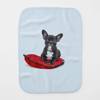 Bulldog Puppy Burp Cloth