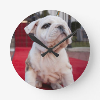 Bulldog Puppy Clocks