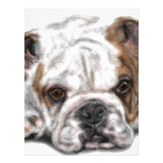 Bulldog Puppy Letterhead