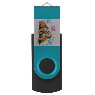 Bulldog Puppy Love Flash Drive