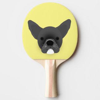 Bulldog Puppy Ping Pong Paddle