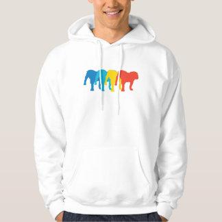 Bulldog Retro Pop Art Hoodie