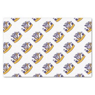 Bulldog Sheriff Cowboy Head Banner Retro Tissue Paper