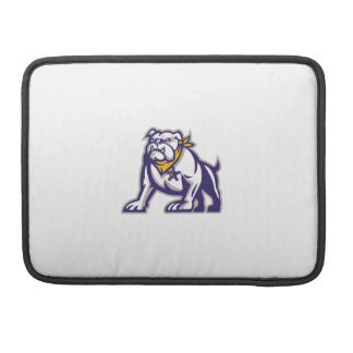 Bulldog Sheriff Crouching Retro MacBook Pro Sleeves