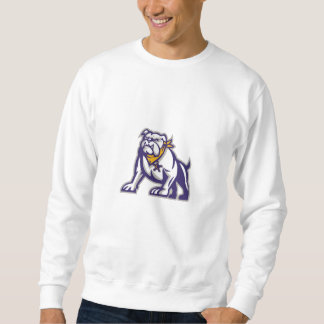 Bulldog Sheriff Crouching Retro Sweatshirt