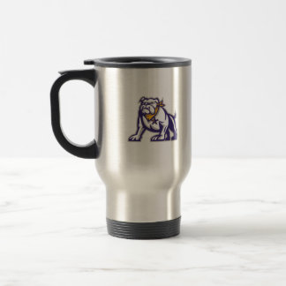 Bulldog Sheriff Crouching Retro Travel Mug