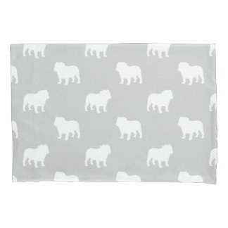 Bulldog Silhouettes Pattern Pillowcase