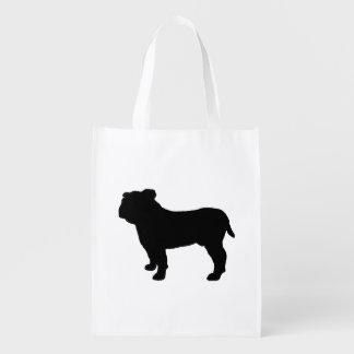 bulldog silo black.png reusable grocery bag