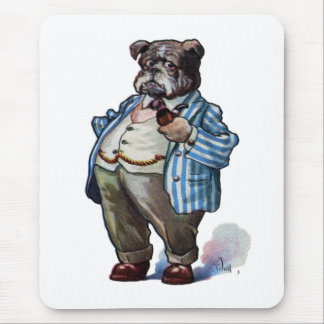 Bulldog Smoking Pipe Mouse Pad