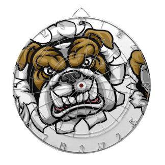 Bulldog Soccer Football Mascot Dartboard