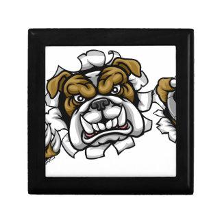 Bulldog Soccer Football Mascot Gift Box