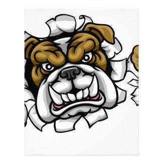 Bulldog Soccer Football Mascot Letterhead