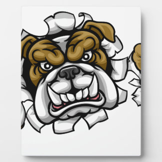 Bulldog Soccer Football Mascot Plaque