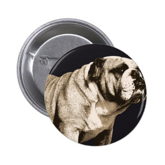 Bulldog Spirit Pinback Button