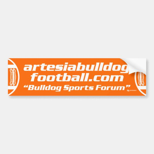 """Bulldog Sports Forum"" Bumper Sticker"
