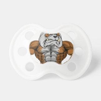 Bulldog Sports Mascot Pacifiers