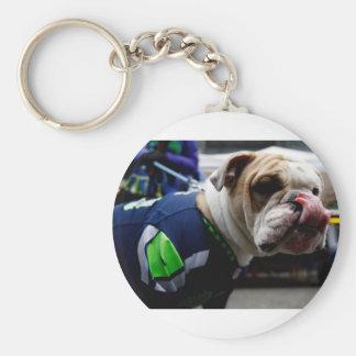 Bulldog Team Spirit Basic Round Button Keychain
