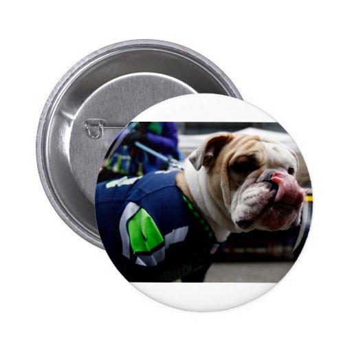 Bulldog Team Spirit Button