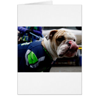 Bulldog Team Spirit Greeting Card