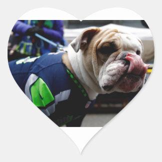 Bulldog Team Spirit Heart Sticker